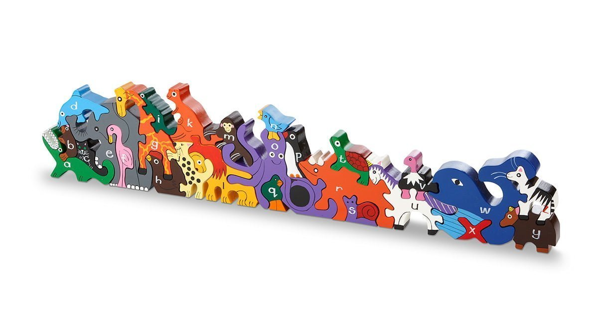 Image of: Starts Animals Of The Zoo alphabet Jigsawplayset Wood Like To Playwood Like To Play Geeks With Juniors Animals Of The Zoo alphabet Jigsawplayset Wood Like To Playwood