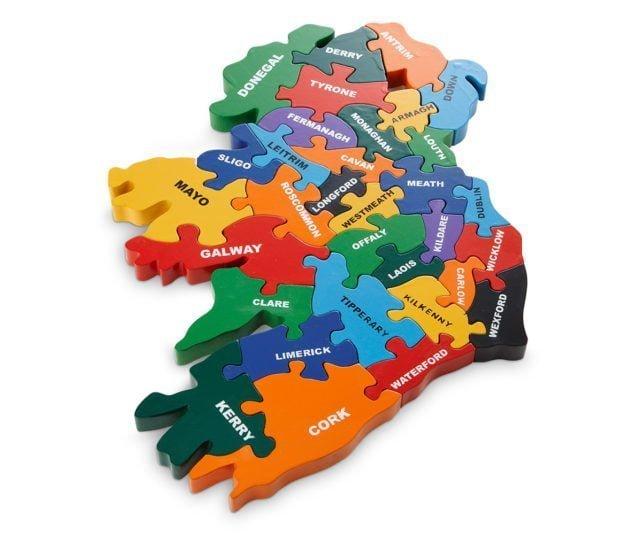 Map Of Uk Jigsaw.Map Of Ireland