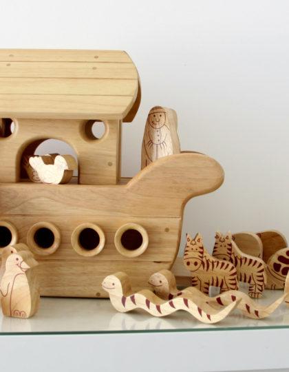 Natural wood Noah's Ark Boat